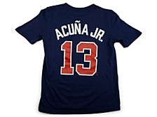Atlanta Braves Youth Name and Number Player T-Shirt Ronald Acuna