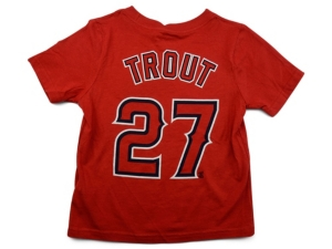 Nike Los Angeles Angels Mike Trout Little Boys Name and Number Player T-Shirt