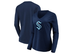 Seattle Kraken Women's Logo Long Sleeve T-Shirt
