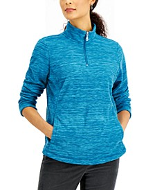 Petite Quarter Zip Microfleece Pullover, Created for Macy's