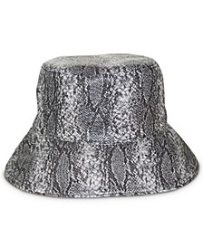 Snake-Embossed Reversible Rain Bucket Hat
