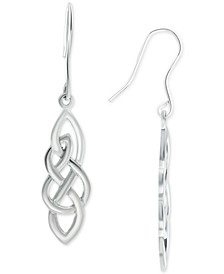 Celtic Knot Drop Earrings in Sterling Silver, Created for Macy's