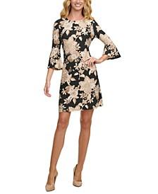 Petite Flare-Sleeve Sheath Dress