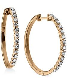 Diamond Hoop Earrings (1/2 ct. t.w.) in 10k Gold ,10k White Gold or 10k Rose Gold