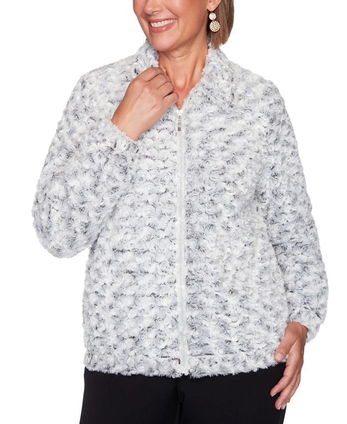Alfred Dunner - Petite Faux-Fur Jacket