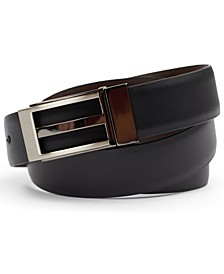 Men's Men's Gunmetal Faux Leather Belt