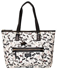 Scratchy Dog Large Zip Top Tote