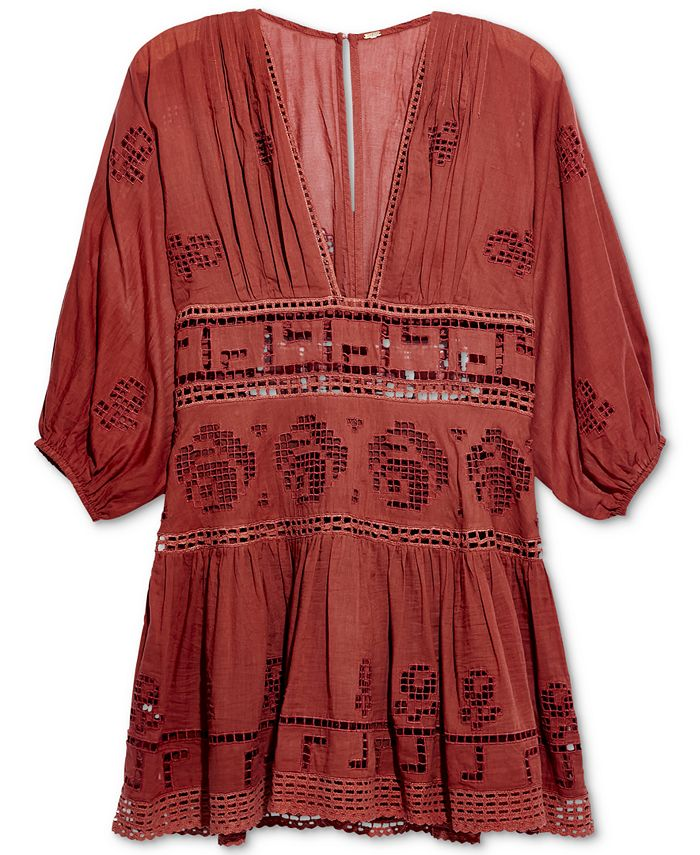 Free People - Embroidered Tea Time Dress