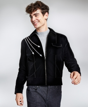 50s Men's Jackets | Greaser Jackets, Leather, Bomber, Gabardine Collectif Mens Jonathan Piped Jacket $170.00 AT vintagedancer.com