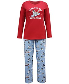 Matching Women's Santa Paws Family Pajama Set, Created for Macy's