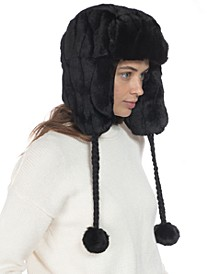INC Embossed Faux-Fur Trapper Hat, Created for Macy's