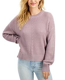 Juniors' Diagonal Ribbed Sweater