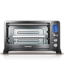 AC25CEW-CHBS Digital Convection Toaster Oven, Black Stainless