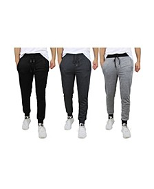 Men's Slim-Fit French Terry Jogger Sweatpants - 3 Pack
