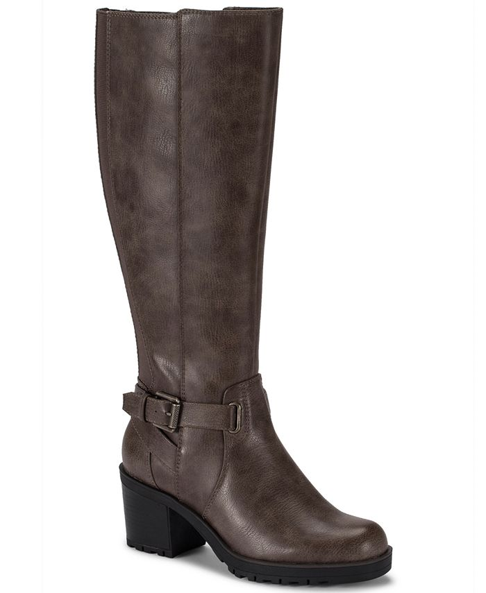 Baretraps - Tempist Faux Shearling-Lined Wide Calf Tall Boots