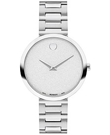 Women's Swiss Museum Classic Stainless Steel Bracelet Watch 32mm