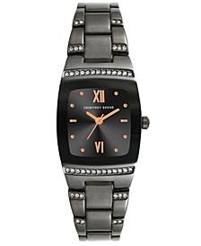 Women's Gunmetal Metal Alloy Bracelet Watch, 32 mm