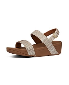 Women's Lottie Glitter Back-Strap Wedge Sandal