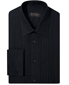 Michelsons Slim-Fit Pleated Point French Cuff Tuxedo Shirt