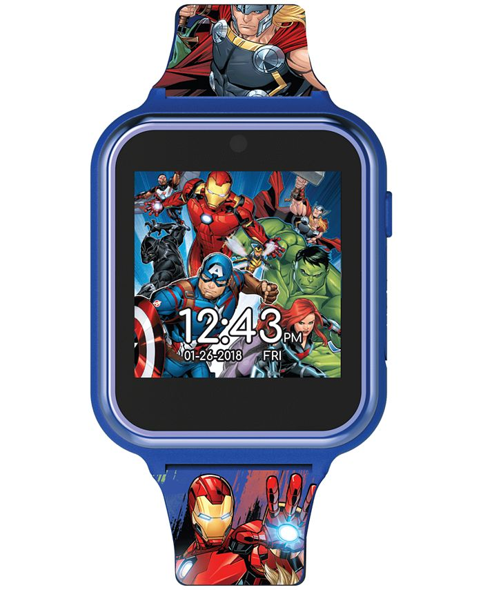 Accutime - Kid's Avengers Silicone Strap Touchscreen Smart Watch 46x41mm