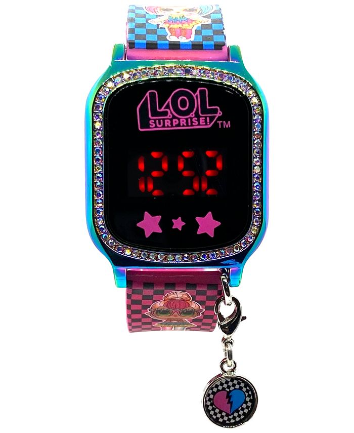 Accutime - Kid's LOL Surprise Multicolored Silicone Touchscreen Smart Watch 36x33mm
