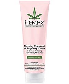 Blushing Grapefruit & Raspberry Crème In-Shower Hydrating Herbal Body Moisturizer, 8-oz., from PUREBEAUTY Salon & Spa