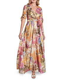 Printed Surplice Gown