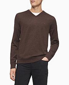 Calvin Klein Merino V-Neck Logo Sweater