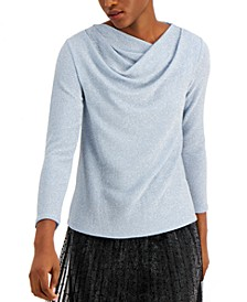 Asymmetrical Cowlneck Top, Created for Macy's