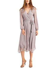 Embellished Mesh Wrap Dress, Created for Macy's