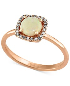 Gemma by EFFY Opal (3/4 ct. t.w.) and Diamond Accent Ring in 14k Rose Gold