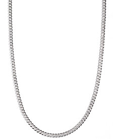 "Men's Sterling Silver Necklace, 24"" 5-1/2mm Chain"