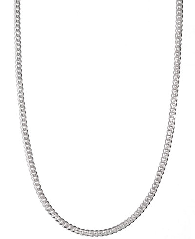 Mens sterling silver necklace 24 5 12mm chain necklaces mens sterling silver necklace mozeypictures Choice Image