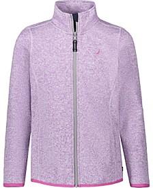 Little Girls Sweater Fleece Jacket