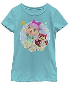 Big Girls Nintendo Animal Crossing New Horizons Flower Magic T-shirt