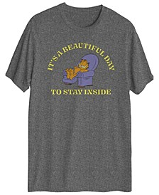 Men's Garfield's It's A Beautiful Day To Stay Inside T-shirt
