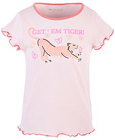 Little Girls Scalloped-Edge Graphic Cotton T-Shirt, Created for Macy's