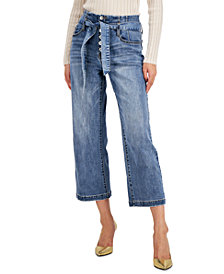 INC Corset-Seam Cropped Jeans, Created for Macy's