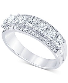 Diamond Princess Seven Stone Band (1-1/3 ct. t.w.) in 14k White Gold