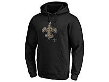 New Orleans Saints Men's Distressed Logo Hoodie