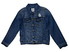 Los Angeles Dodgers Youth Girls Denim Jacket