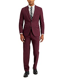 Men's Modern Fit Wine Suit Pants & Jacket