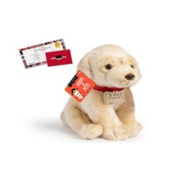 Fao Schwarz Toy Plush Puppy Floppy Labrador 10inch