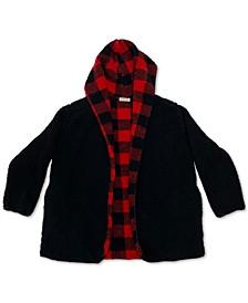 Trendy Plus Size Reversible Fleece Cardigan