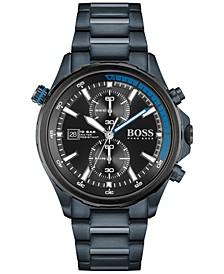 Men's Globetrotter Chronograph Blue Stainless Steel Bracelet Watch 46mm
