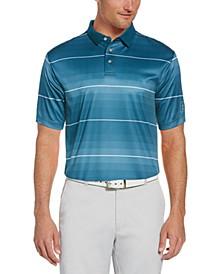 Men's Gradient Stripe Polo Shirt