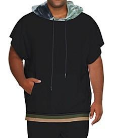 Men's Short Sleeve Tie-Dye Hoodie