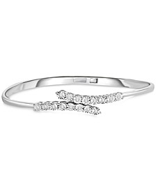 Diamond Bangle Bracelet (1/4 ct. t.w.) in Sterling Silver
