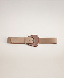 Resin Buckle Leather Belt