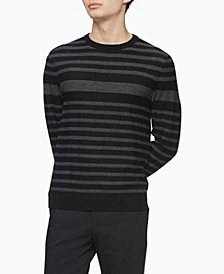 Calvin Klein Merino Engineered Stripe Sweater